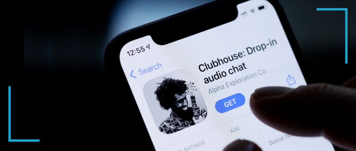 clubhouse audio-only social media app on mobile